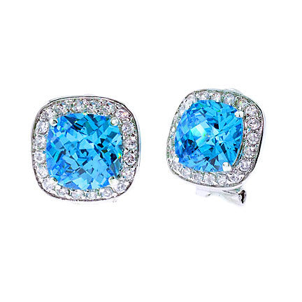 Blue Topaz Cut Earrings