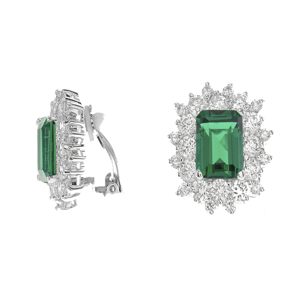 Emerald Clip On Earrings