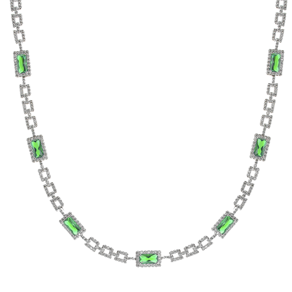 Emerald Deco Chain Necklace
