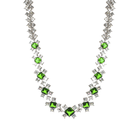 Emerald Green Deco Necklace
