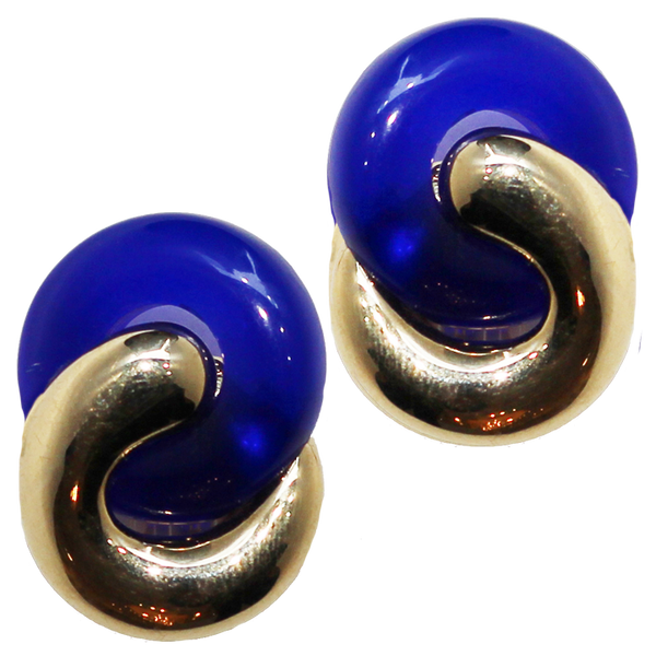 Interlocking Clip On Earrings