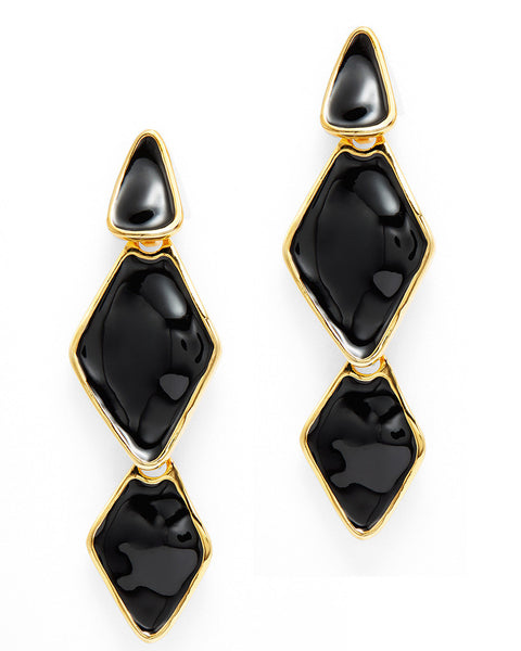 Black Trio Drop Earrings
