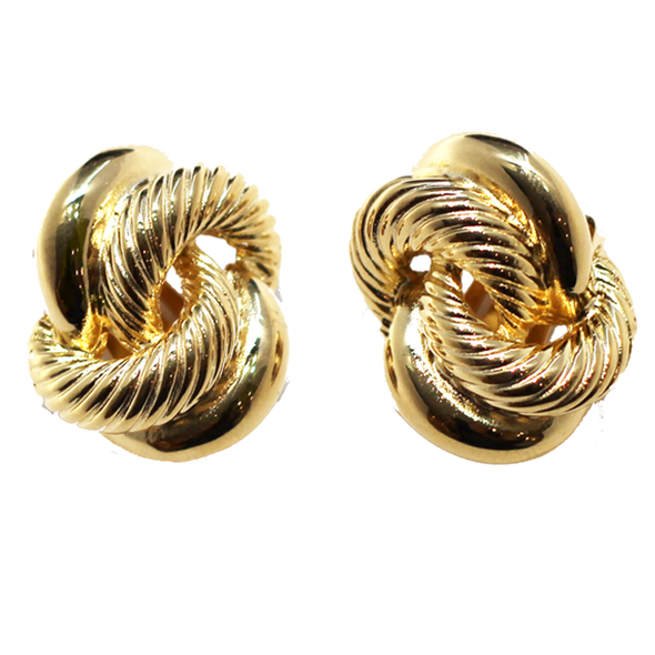 Gold Interwoven Earrings