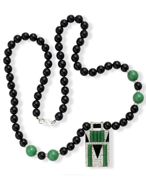 Jade Art Deco Necklace