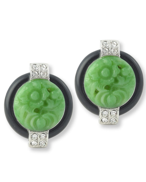 Art Deco Button Earrings