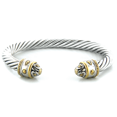 Nouveau Large Two Tone Wire Cuff