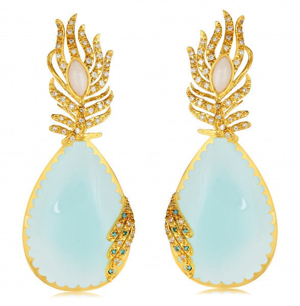 Pavone Pear Drop Earrings
