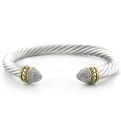 Briolette Pave Large Wire Cuff