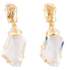 Polished Crystal Drop Earrings