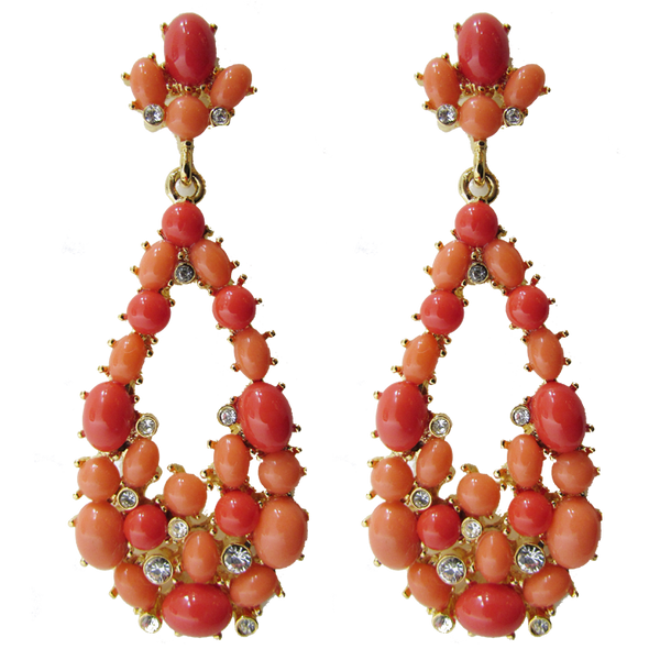 Teardrop Jewel Drop Earrings