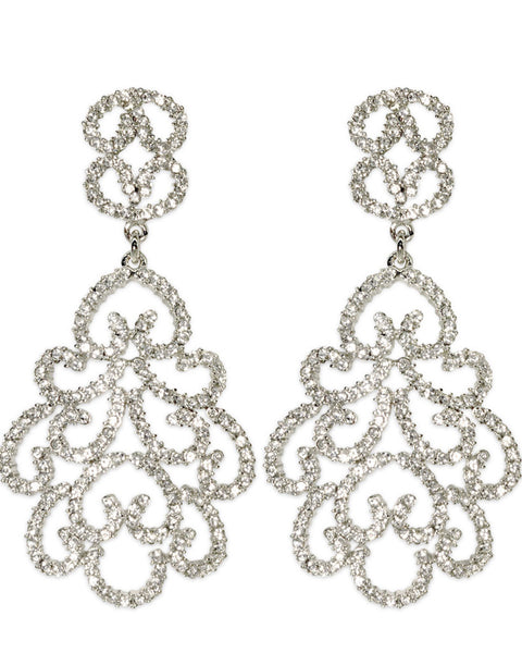 Glitz Glam Blue Diamontrigue Jewelry: Hollywood Glamour Earrings