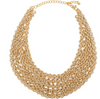 Gold Chain Bib Necklace
