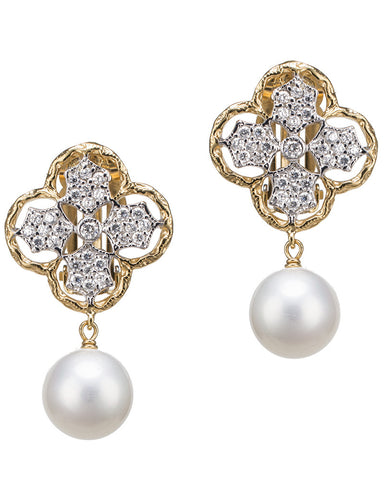 Classic Clover Pearl Earrings