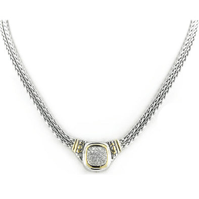 Nouveau Pave Double Strand Necklace