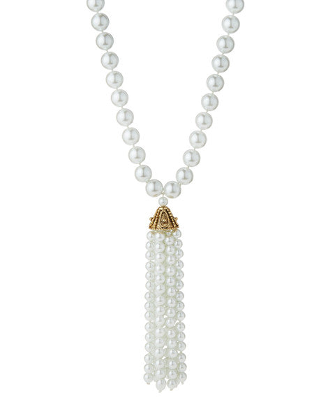 Oversized Pearl Tassel Necklace