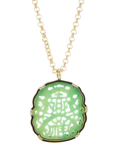 Jade Carved Pendant Necklace