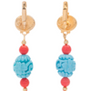 Carved Tassel Sky Earrings