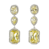 Canary Triple Drop Earrings