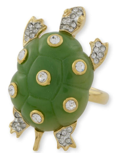 Jade Turtle Ring