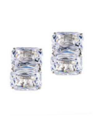 Double Emerald Cut Earrings
