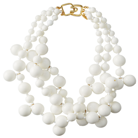 White Bauble Necklace