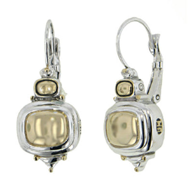 Nouveau Gold Dome French Wire Earrings