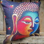 Cushion Cover - Buddha Head Multi-coloured - Totally Buddha