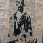Sitting Meditating  Buddha Wall Art on Jute - Totally Buddha