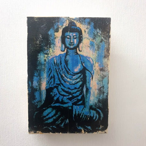 Image Transfer technique Buddha Head Wall Art - Totally Buddha