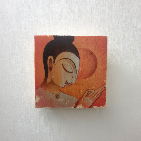 Square Buddha Head Wall Art Image Transfer - Totally Buddha