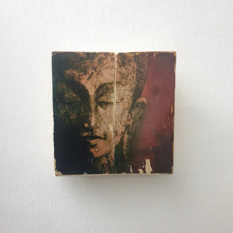Square Image Transfer Buddha Head Wall Art - Totally Buddha