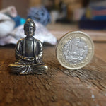 Mini Brass Sitting Buddha Ornament - 2 designs - Totally Buddha