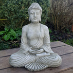 Cement / Concrete Meditating Buddha Statue - Totally Buddha