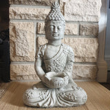 Tealight Cement / Concrete Buddha Statue - Totally Buddha