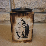 15cm Wooden Rustic Candle Holder - Buddha Head - Totally Buddha
