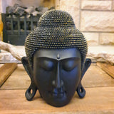Black and Gold Buddha Head Ornament - Totally Buddha