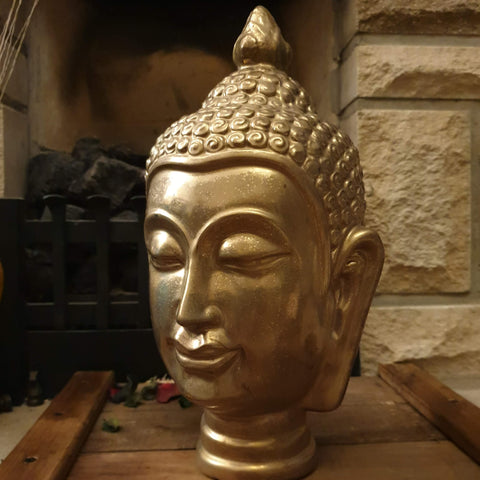 Golden Buddha Head Ornament - Totally Buddha