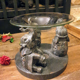 3 Rustic Elephants Oil Burner - Totally Buddha