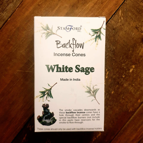 Backflow Burner Cones - White Sage - Totally Buddha