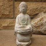 Cement / Concrete Tealight Buddha Statue - 20.5cm - Totally Buddha
