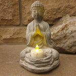 Cement / Concrete Tealight Buddha Statue - 20cm - Totally Buddha