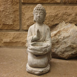 Cement / Concrete Tealight Buddha Statue - 21.5cm - Totally Buddha