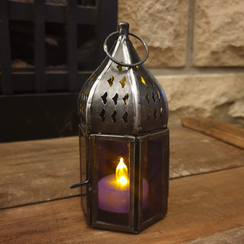 Small Hexagon Lantern - Purple - Totally Buddha