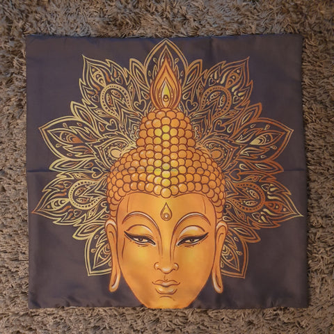 Cushion Cover - Thai Buddha Head - Totally Buddha