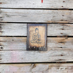 Reclaimed Wood Sitting Buddha Key Hooks - Totally Buddha
