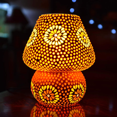 Large Glass Mosaic Table Lamp - ML288L - Totally Buddha