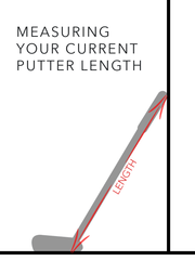 Graphic showing how to Measure your current putter length