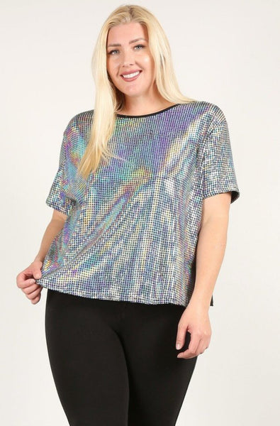 Plus Size Bling top
