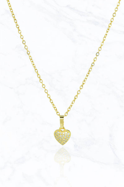 Shiny Heart Steel Necklace