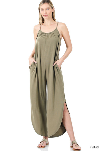JUMPSUIT WITH SIDE SLIT